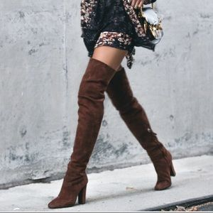 NWOT Giuseppe Zanotti black suede thigh high boots